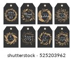 vector big collection of hand... | Shutterstock .eps vector #525203962