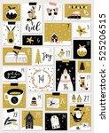 advent calendar. christmas... | Shutterstock .eps vector #525206515