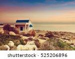 cyprus  mediterranean sea coast.... | Shutterstock . vector #525206896