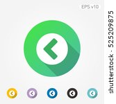 colored icon of left arrow with ...