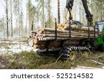 Log Truck Working. The...