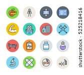 medicine icons | Shutterstock .eps vector #525218416