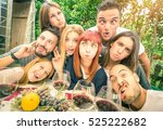 best friends taking selfie at... | Shutterstock . vector #525222682