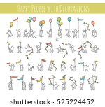 cartoon icons set of sketch... | Shutterstock .eps vector #525224452