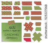 vector real adhesive tapes set. ... | Shutterstock .eps vector #525227068