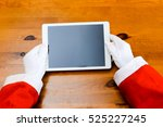 joyful santa claus working... | Shutterstock . vector #525227245