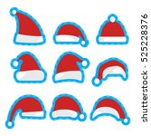 christmas hat patch design.... | Shutterstock .eps vector #525228376