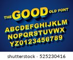 vector of big retro 3d alphabet | Shutterstock .eps vector #525230416