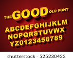 Vector of big retro 3d alphabet | Shutterstock vector #525230422