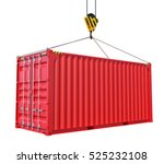 cargo container with hook... | Shutterstock . vector #525232108