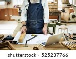 carpenter craftsman handicraft... | Shutterstock . vector #525237766