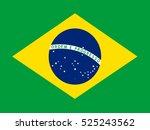 the official flag of brazil. | Shutterstock .eps vector #525243562