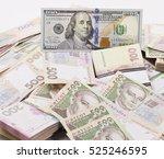 a lot of ukrainian hrynias and... | Shutterstock . vector #525246595
