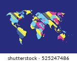 vector illustration. map of the ... | Shutterstock .eps vector #525247486