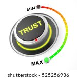 trust button position 3d... | Shutterstock . vector #525256936