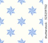 seamless pattern with star of... | Shutterstock .eps vector #525259702