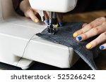 fashion design sewing machine... | Shutterstock . vector #525266242