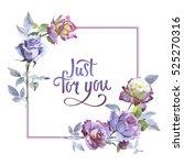 wildflower rose flower frame in ...   Shutterstock . vector #525270316