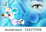 medical analysis and scientific ... | Shutterstock . vector #525275398