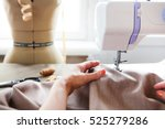 woman tailor working on sewing...   Shutterstock . vector #525279286