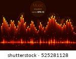 fire wave flames  music wave... | Shutterstock .eps vector #525281128