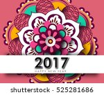 floral mandala pattern and...   Shutterstock .eps vector #525281686