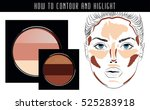 how to contour and highlight....   Shutterstock .eps vector #525283918
