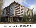 Small photo of Buildings of Pripyat, Chernobyl alienation zone.