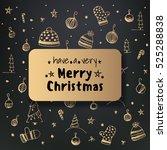 christmas greeting card. vector ... | Shutterstock .eps vector #525288838