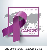 world cancer day concept.... | Shutterstock .eps vector #525293542