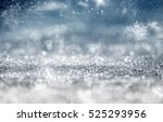 magic blue holiday abstract... | Shutterstock . vector #525293956