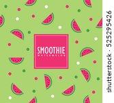 watermelon background. swatch... | Shutterstock .eps vector #525295426