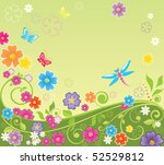 summer colorful background | Shutterstock .eps vector #52529812