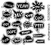 black and white funny set of... | Shutterstock .eps vector #525305872