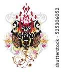 grunge tribal imaginary animal... | Shutterstock .eps vector #525306052