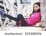 girl having a break | Shutterstock . vector #525308596
