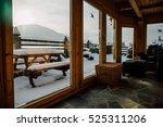 wooden cottage house window.... | Shutterstock . vector #525311206