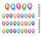 colorful small alphabet letter... | Shutterstock .eps vector #525320512