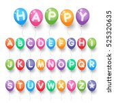colorful capital alphabet... | Shutterstock .eps vector #525320635