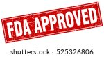 fda approved. stamp. square... | Shutterstock .eps vector #525326806