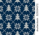 winter holiday seamless knitted ... | Shutterstock .eps vector #525334372