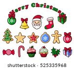 colorful christmas objects ... | Shutterstock .eps vector #525335968