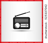 retro radio icon vector... | Shutterstock .eps vector #525337042