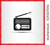 retro radio icon vector... | Shutterstock .eps vector #525337042