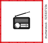 retro radio icon vector... | Shutterstock .eps vector #525337156