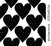 monochrome romantic seamless... | Shutterstock .eps vector #525340216