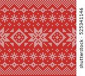 christmas knitting seamless... | Shutterstock .eps vector #525341146