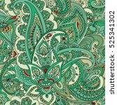 "seamless pattern of ""paisley""... | Shutterstock .eps vector #525341302"