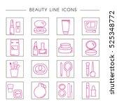 set of decorative cosmetics in... | Shutterstock .eps vector #525348772