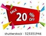 sale banner template for... | Shutterstock .eps vector #525351946